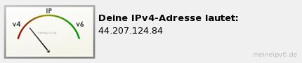 Deine IPv6- oder IPv4-Adresse